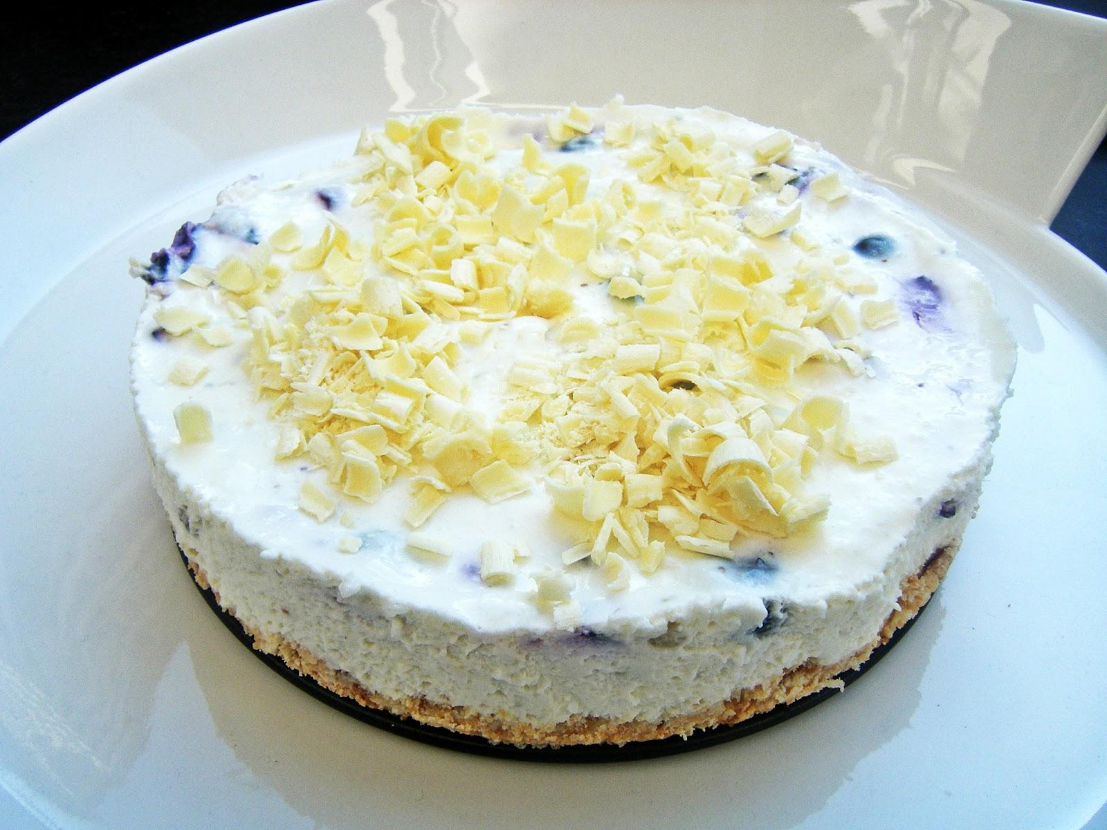 Blaubeer Frischkase Kuchen Mit Weisser Schokolade Sugar Spice