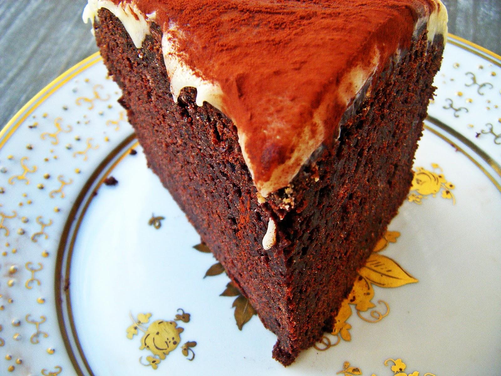 Kleine Schokobombe Schoko Guinness Kuchen Mit Frischkase Frosting