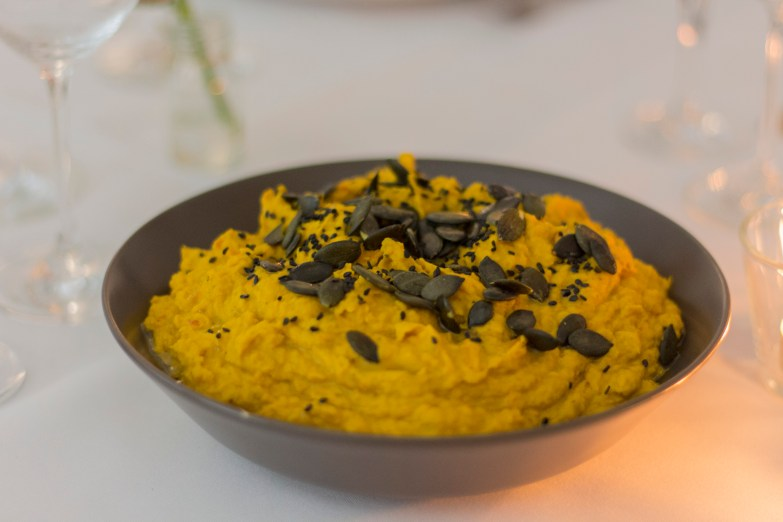 Kochen und Freunde Kürbis-Hummus