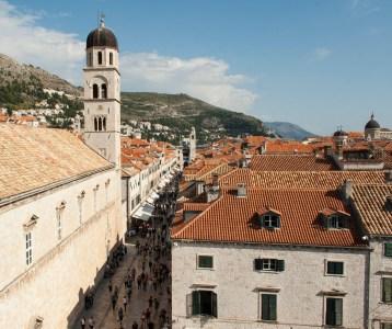 Dubrovnik Stradun von oben