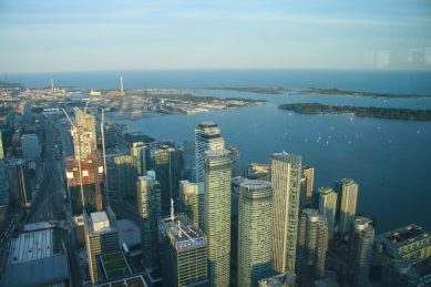 Bild 21 Toronto Skyline Toronto Islands vom CN-Tower aus