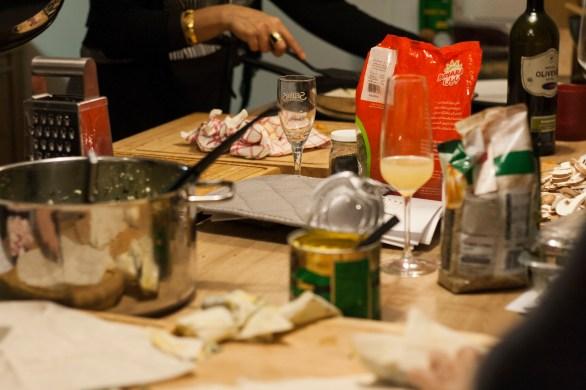 Kochen und Freunde Küchenchaos